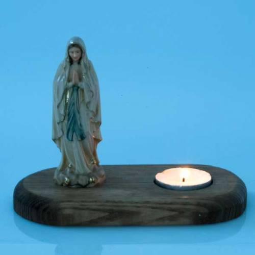 Virgen de Lourdes con vela s3