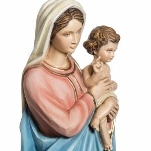 Virgin Mary and Baby statue, 60cm in painted reconstituted marbl s3