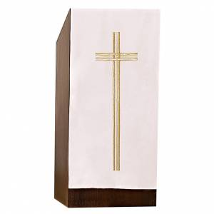 Voile de lutrin croix broderie dorée s1