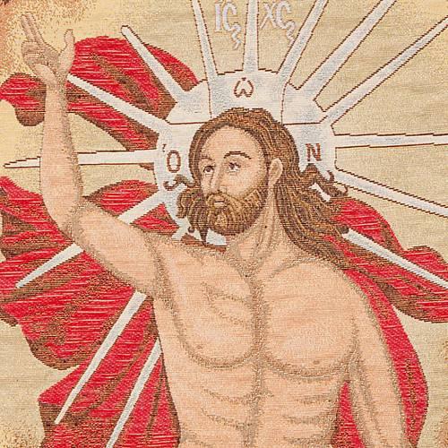 Voile de lutrin résurrection Christ, anges s4