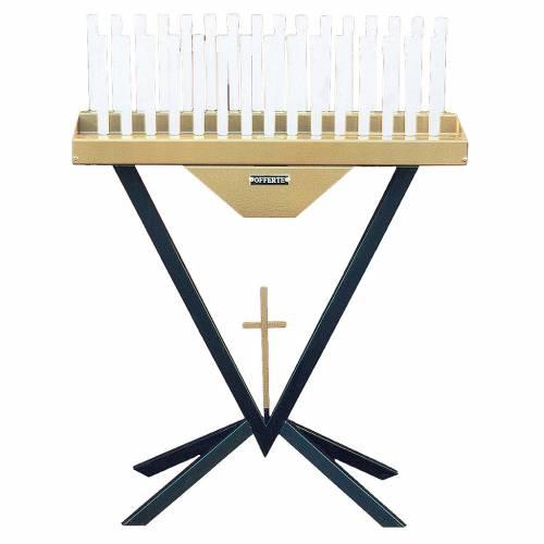 Votivo elettronico 31 candele lampadine 12 V e croce s1