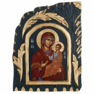Vreko Fratusa, Greek icon, screenprinted and painted s1