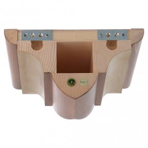 Wall bracket for statue in wood from Valgardena, gothic style s4