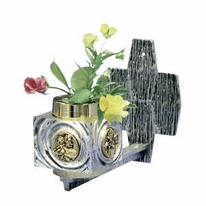 Wall flower box in brass s1