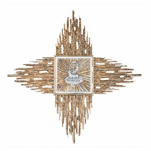 Wall tabernacle gold-plated brass, Agnus Dei s1
