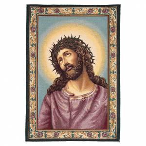 Wandteppiche: Wandteppich Jesus mit Dornenkrone 65x45cm