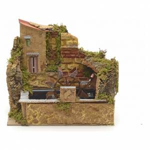 Watermills and windmills: Water mill with pump 25x14cm