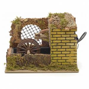 Watermills and windmills: Water mill with pump for nativities 25x14x20cm