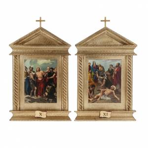 Way of the Cross: Way of Sorrows in wood, 15 stations