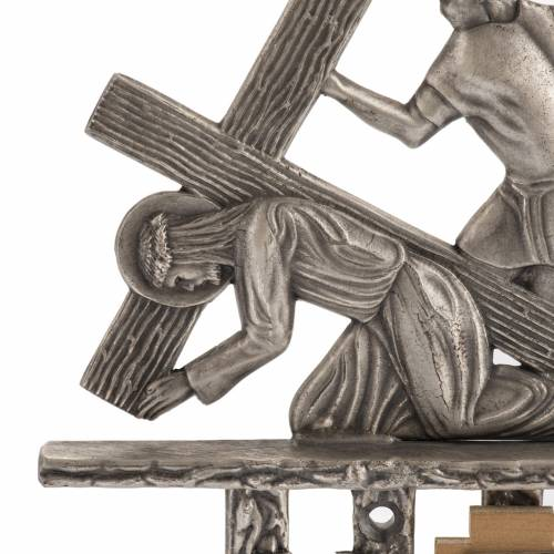 Way of the cross in silver plated bronze, 15 stations s2