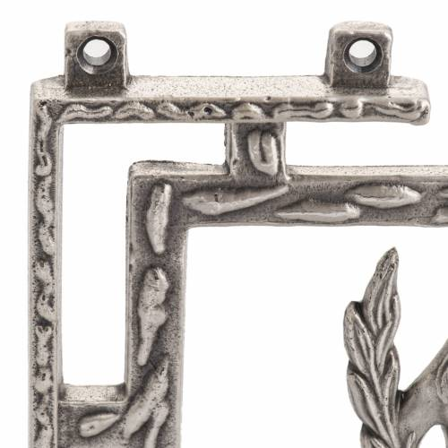 Way of the cross in silver plated bronze, 15 stations s5