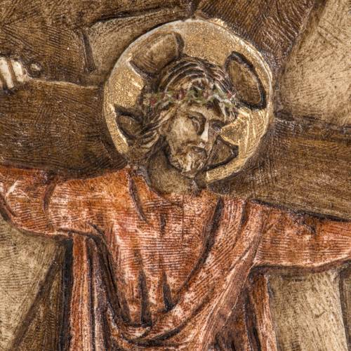 Way of the Cross in Stone by Bethleem, station 2 s2