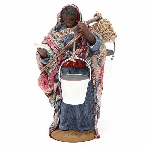 Wayfarer woman, Neapolitan nativity figurine 10cm s1