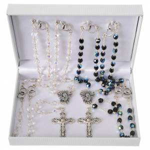 Wedding rosary beads, glass grains 7mm s6