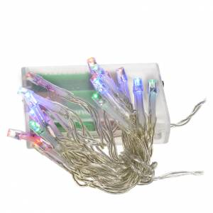 Weihnachtslichter: Weihnachtslichter 20 Led multicolor mit Batterie