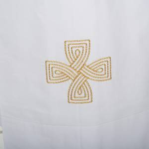 Albs: White alb cotton gold cross