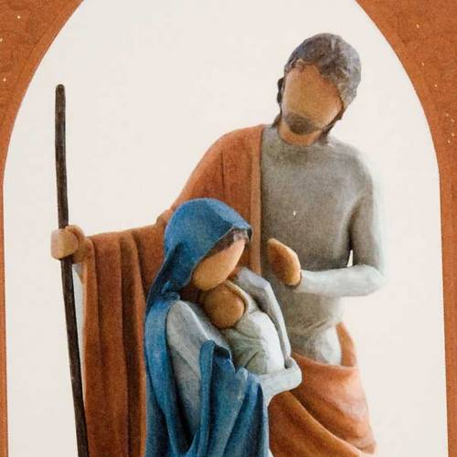 Willow Tree Card - Christmas Story (sacra famiglia) 2