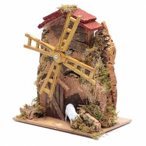 Watermills and windmills: Wind mill for nativities with gear motor 15x10cm