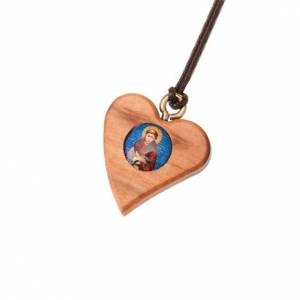 Zawieszki różne: Wisiorek serce święty Franciszek