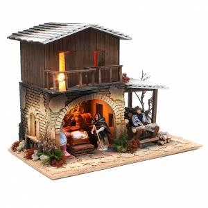 Wood chopper, animated nativity figurine, 12cm s4