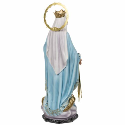 Miraculous Madonna statue 60cm in wood paste, elegant decoration s9