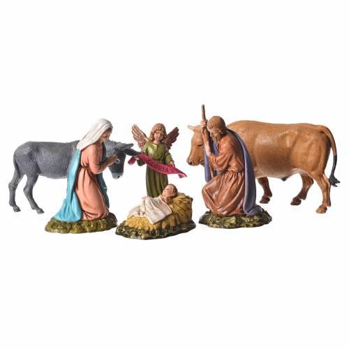 Moranduzzo nativity scene 11cm, 6 pieces s1