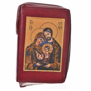 Morning and Evening prayer cover: Morning & Evening prayer cover in burgundy bonded leather with image of the Holy Family