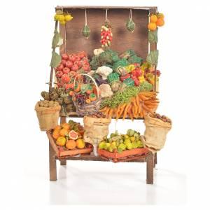 Comida en miniatura: Mostrador frutería de cera 20x27x44 cm.