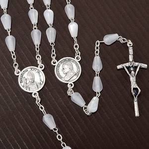 Imitation pearl rosaries: Mother of pearl effect rosary