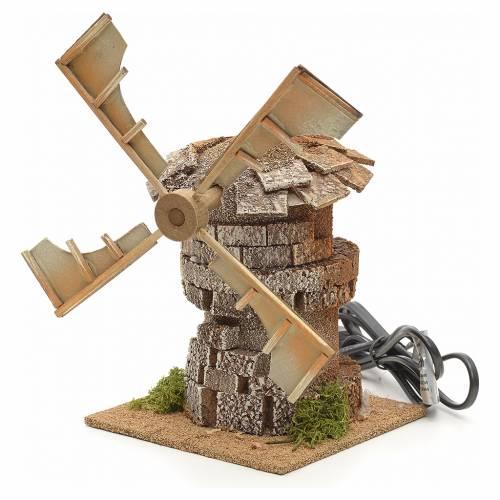 Moulin à vent en miniature crèche 17x12x12cm s3