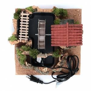 Moulin à vent terre cuite 20x25x25 cm crèche s5