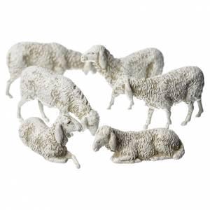 Crèche Moranduzzo: Moutons crèche Moranduzzo 8cm, 6 pcs
