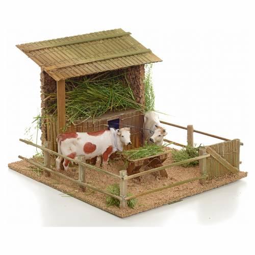 Mucche nella stalla movimento s2