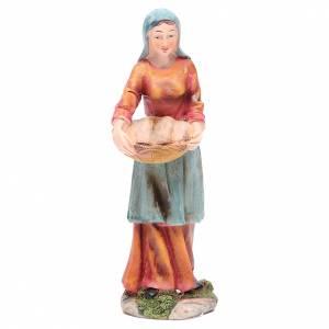Mujer con cesta 21 cm belén resina s1