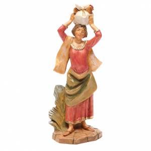 Figuras del Belén: Mujer con gallina 19 cm belén