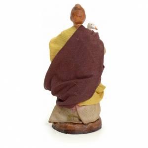 Mujer con ganso cm 8 pesebre napolitano s3