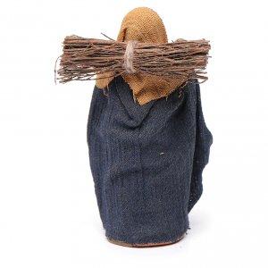 Mujer con leña 10 cm terracota s4