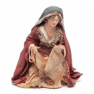 Pesebre Angela Tripi: Mujer lavando los paños 13 cm Angela Tripi