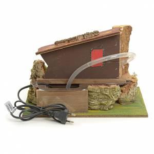Mulino ad acqua elettrico con casa: ambiente presepe s3