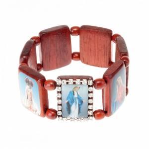 Multi-image wood bracelets: Multi-image strass bracelet