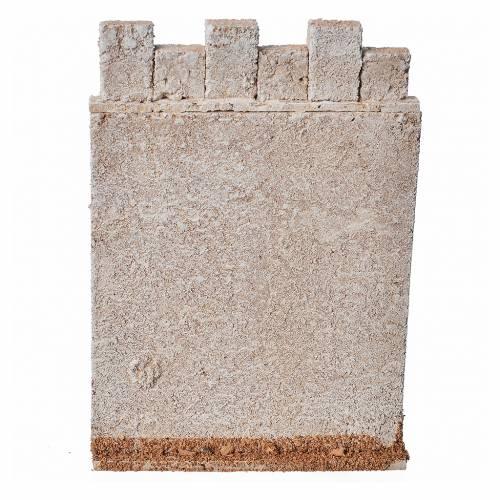 Mur d'enceinte de château en liège crèche s6