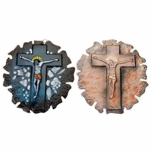 Mural ceramic crucifix s1