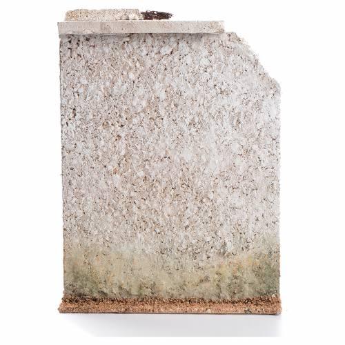 Muro sughero con finta porta presepe 27x21x5 s2