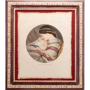 Bilder, Miniaturen, Drucke: Mutter mit Kind Drucken Florenz