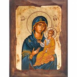 Griechische Ikonen: Mutter von Gottes blaue Mantel