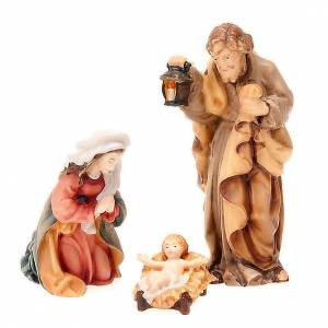 Belén Val Gardena: Natividad 11 cm. de madera pintada a mano