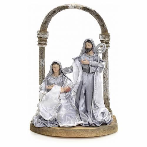 Natividad con arco 30,5 cm Silver s1