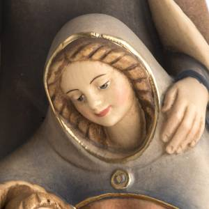 Natividad de madera pintada a mano Val Gardena s3