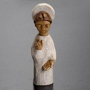 Pesebre Monasterio de Belén: Natividad pequeña, ángel con aureola