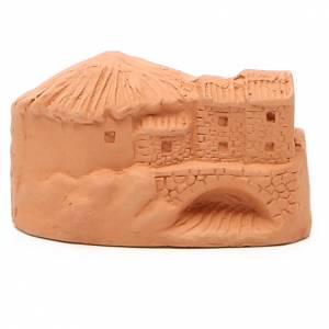 Natività in miniatura terracotta naturale 5x4x7 cm s4